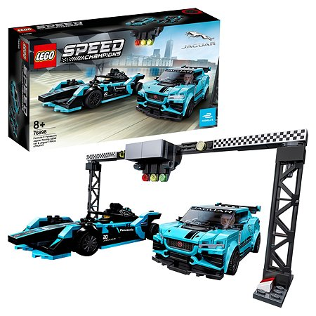 Конструктор LEGO Speed Champions Formula E Panasonic Jaguar Racing GEN2 car Jaguar I-Pace eTrophy 76898