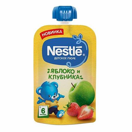 Пюре Nestle яблоко-клубника 90г с 6месяцев