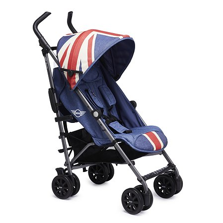Коляска Easywalker Mini Buggy+ Union Jack Vintage с бампером