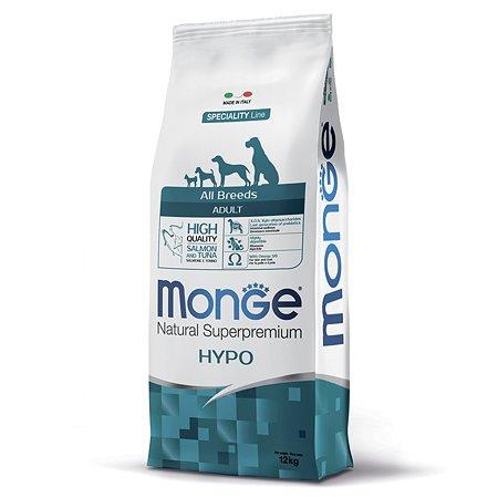 Корм для собак MONGE Dog Speciality гипоаллергенный лосось с тунцом сухой 12кг