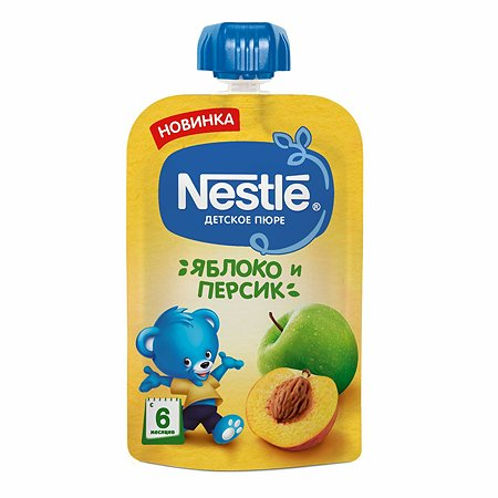 Пюре Nestle яблоко-персик 90г с 6месяцев