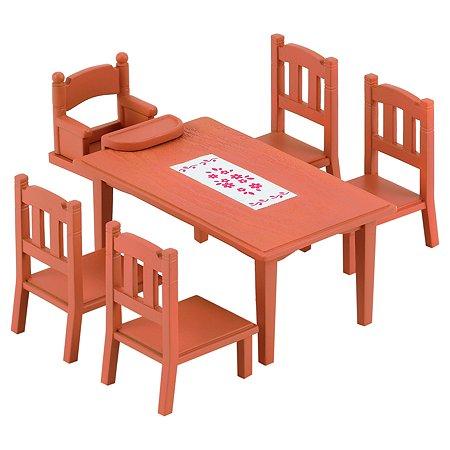 Набор Sylvanian Families Обеденный стол с 5-ю стульями (4506)