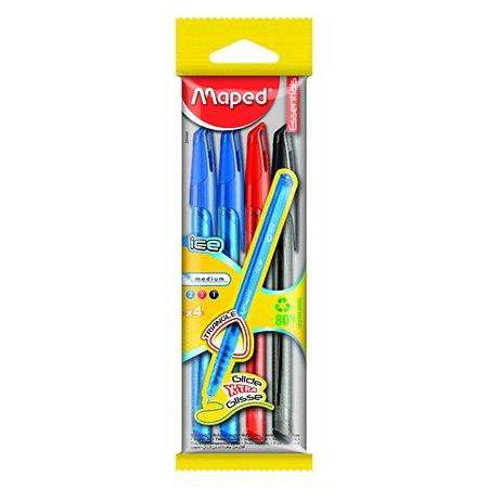 Ручка шариковая MAPED одноразовая