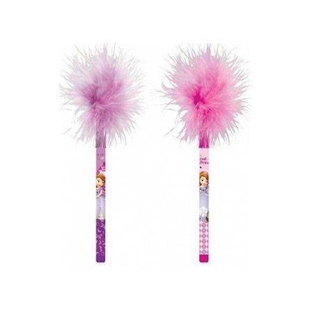 Ручка шариковая Disney in Flowers с пушком