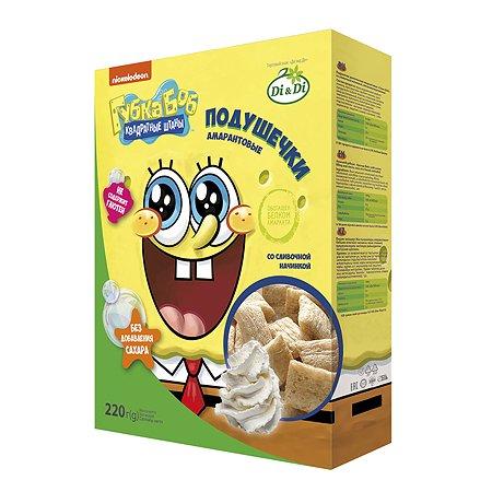 Подушечки Sponge Bob амарантовые со сливочной начинкой 220г