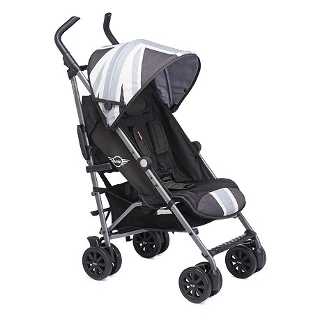Коляска Easywalker Mini Buggy+ Union Jack Vintage с бампером Black White