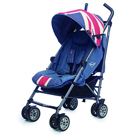 Коляска Easywalker Mini Buggy Union Jack Vintage c бампером