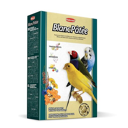 Корм для птиц PADOVAN Blanc Patee декоративных дополнительный мёд 0.3кг