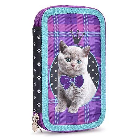 Пенал-книжка Erhaft Кошечка 2этажный CAT018