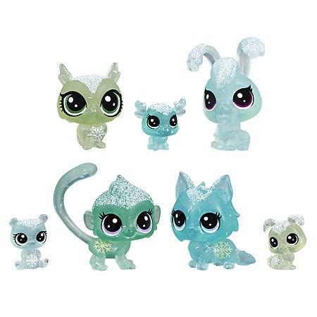 Набор игровой Littlest Pet Shop 7петов Зеленые E5490EU4