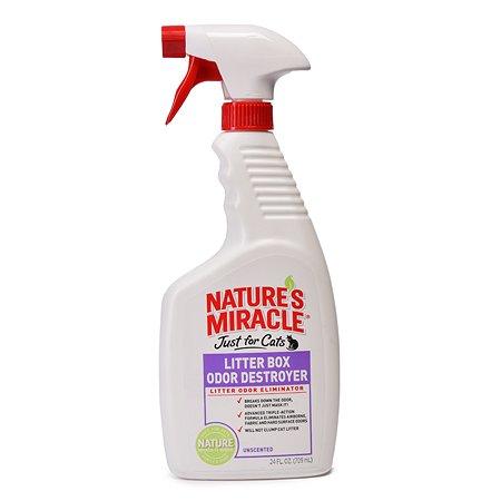 Средство Natures Miracle Litter Box Odor Destroyer устранение запаха в кошачьем туалете спрей 710мл