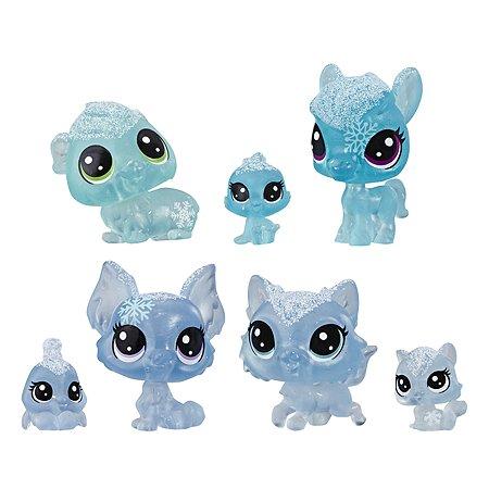 Набор игровой Littlest Pet Shop 7петов Голубые E5491EU4