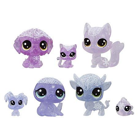 Набор игровой Littlest Pet Shop 7петов Лиловые E5492EU4