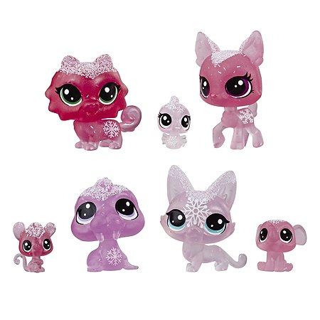Набор игровой Littlest Pet Shop 7петов Розовые E5493EU4