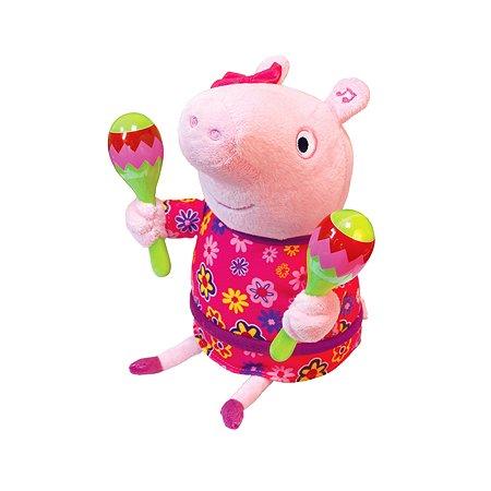 Игрушка мягкая Свинка Пеппа Пеппа с маракасами 30см