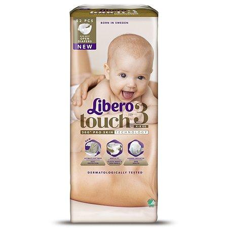 Подгузники Libero Touch 3 4-8кг 52шт