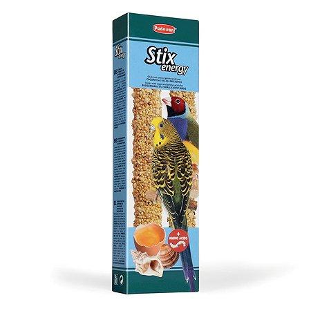 Лакомство для попугаев и экзотических PADOVAN Stix Палочки для повышения энергичности 0.08кг