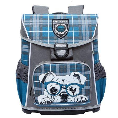 Рюкзак Grizzly для девочки мопс в очках