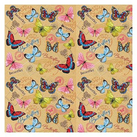 Бумага Magic Time крафт Тропические бабочки 100х70 см 80 г/м2