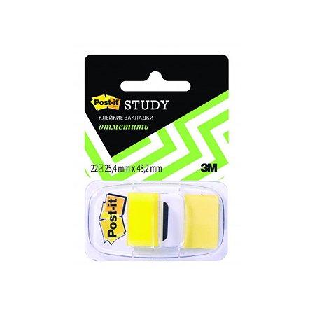 Закладки Post-it желтые 22 шт