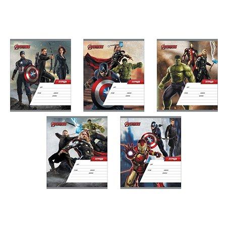 Тетрадь Marvel Мстители-2 Клетка 18л в ассортименте 37372