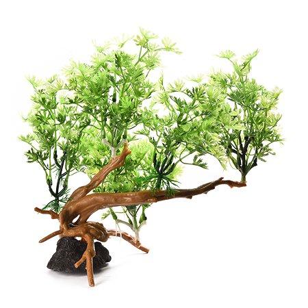 Декорация для аквариума FAUNA Растение на коряге-7 FIAD-1253