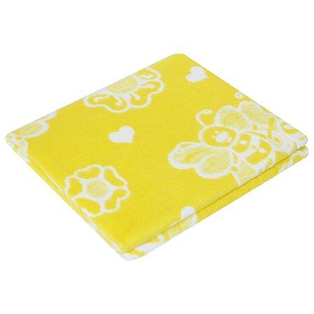 Одеяло байковое Ермошка Пчелки Желтое 57-6 ЕТЖ