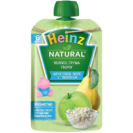 Пюре Heinz яблоко-груша-творог 90г с 6месяцев