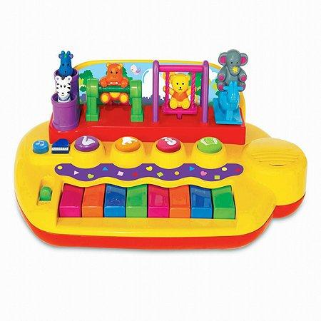 Пианино Kiddieland с животными на качелях