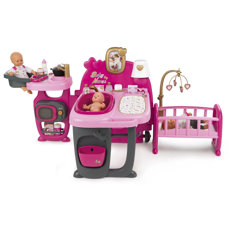 53ec41c908ca Центр игровой Smoby Baby Nurse для пупса большой 18 аксессуаров 220327