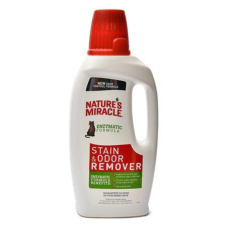 Уничтожитель пятен и запахов от кошек Natures Miracle Remover универсальный 945мл