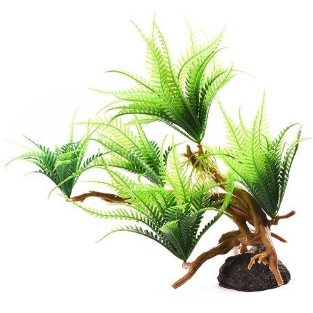 Декорация для аквариума FAUNA Растение на коряге-13 FIAD-1259