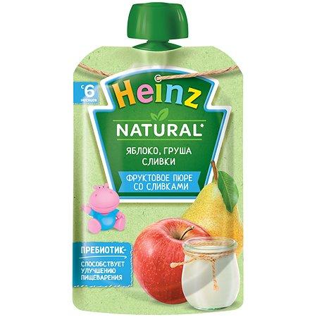 Пюре Heinz яблоко-груша-сливки 90г с 6месяцев