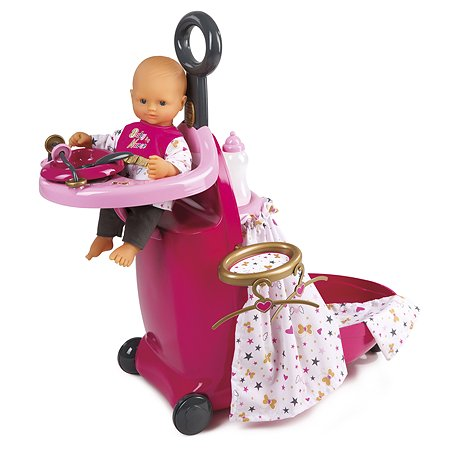 Набор Smoby Baby Nurse для кормления и купания пупса 220316