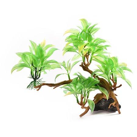 Декорация для аквариума FAUNA Растение на коряге-26 FIAD-1272