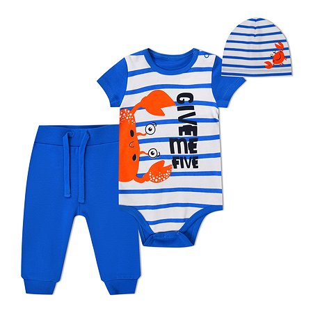 Комплект BabyGo боди + брюки + шапочка