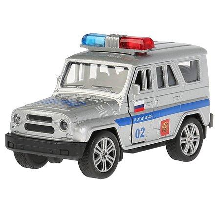 Машина Технопарк UAZ Hunter Полиция инерционная 240788