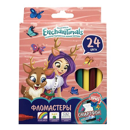 Фломастеры Barbie Enchantimals 24 цвета 120302