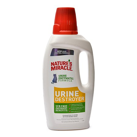 Уничтожитель пятен запахов и осадка мочи Natures Miracle Urine Destroyer кошек 945 мл