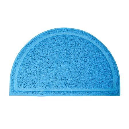 Коврик для кошачьего туалета Triol полукруглый Голубой 40*25см