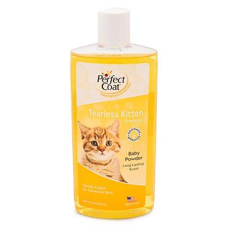 Шампунь для котят 8in1 Perfect Coat Tearless Kitten без слез с ароматом детской присыпки 295мл