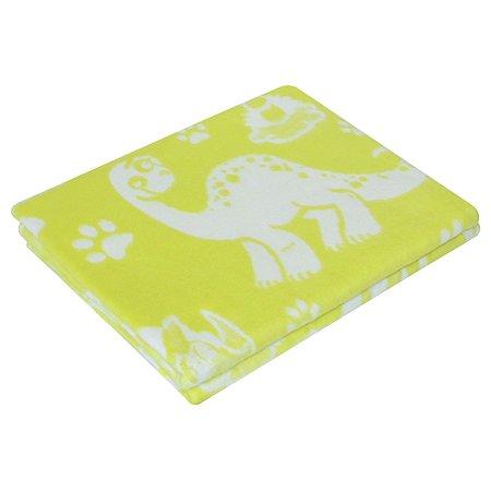 Одеяло байковое Ермошка Динозавры Лимонное 57-6 ЕТЖ