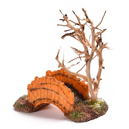 Декорация для аквариума FAUNA Дерево и мостик FIAD-1340