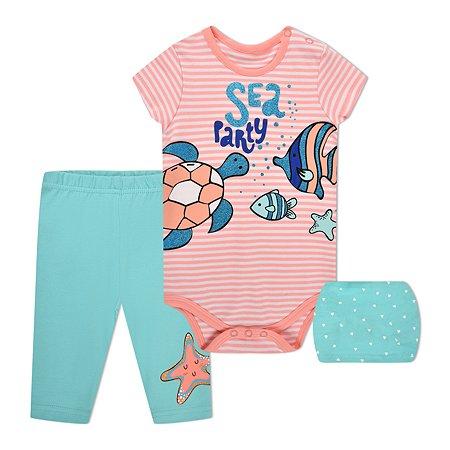 Комплект BabyGo боди + брюки + повязка