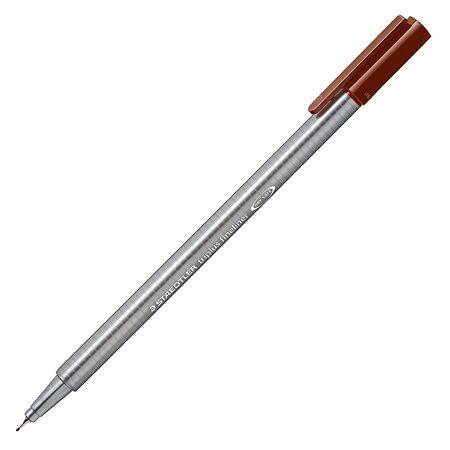 Ручка капиллярная Staedtler Triplus трехгранная Коричневая