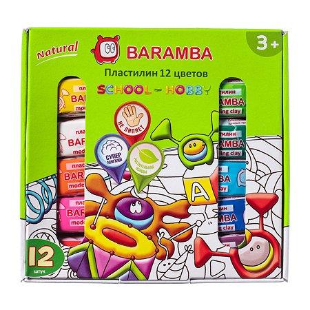 Пластилин Baramba на натуральной основе 12цветов B30012