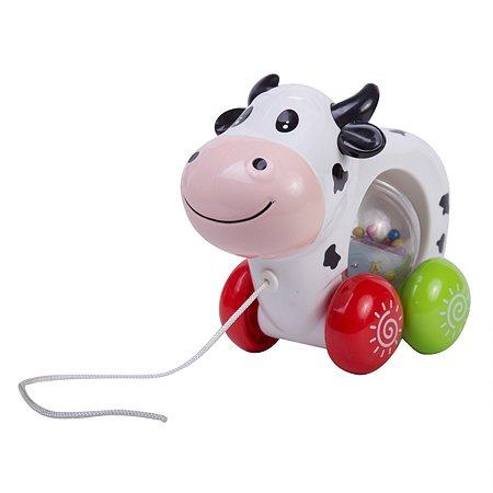 Каталка Baby Go Корова на колесиках