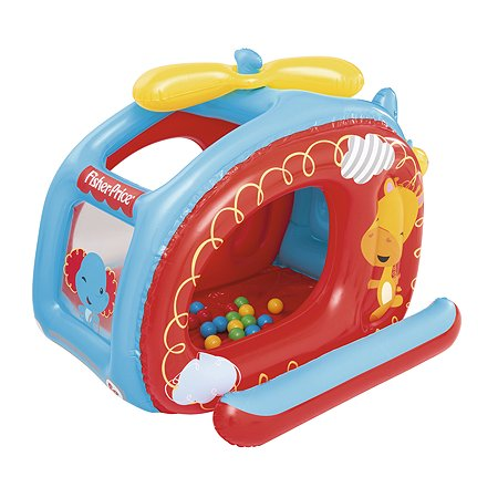 Центр игровой Bestway Fisher Price Вертолет с шариками 93502