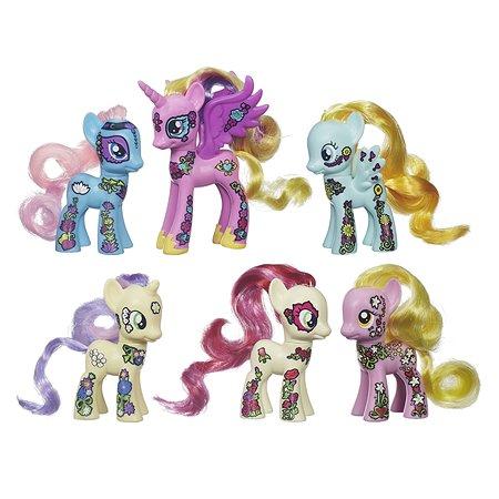 Коллекционный набор My Little Pony 6 фигурок серия Пони мания