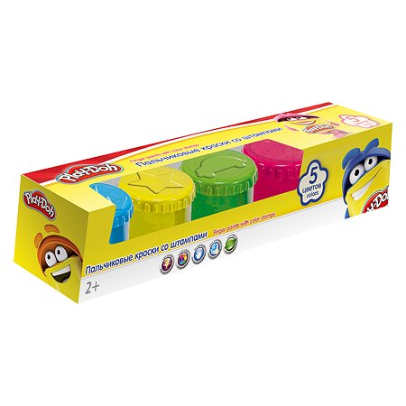 Краски Kinderline пальчиковые Play Doh 5 цв